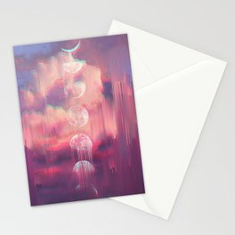 Moontime Glitches Stationery Cards