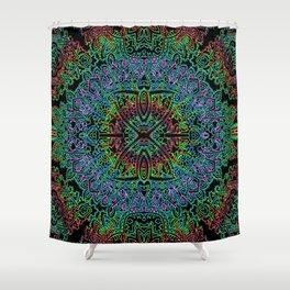 Boho Vibe Festival Psychedelic Hippie Bohemian Yoga Mantra Meditation Shower Curtain