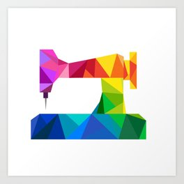 Geometric Sewing Machine Art Print