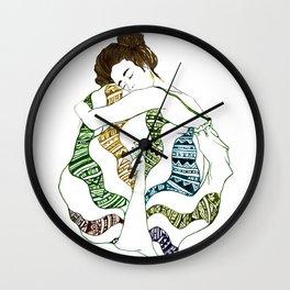 Peaceful Peacock Dress Wall Clock