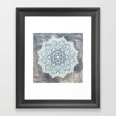Fancy Boho Mandala Framed Art Print