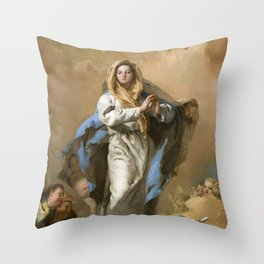 The Immaculate Conception by Giovanni Battista Tiepolo (c 1768) Throw Pillow