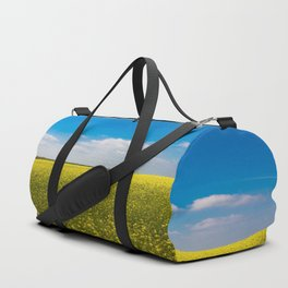 Drifting Days - Blissful Spring Day of Blue Skies and Yellow Canola Fields Duffle Bag