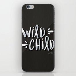 Wild Child – White on Black Palette iPhone Skin