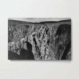 Cross Fissures Metal Print