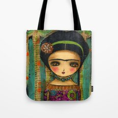 Frida In A Purple And Blue Dress Tote Bag