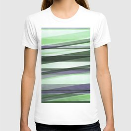 Semi Transparent Layers In Green Lime and Lavender T-shirt