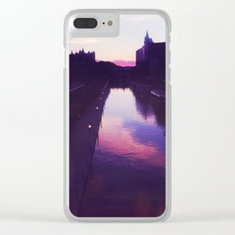 Sunset Castles Clear iPhone Case