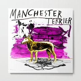 Manchester Terier Metal Print