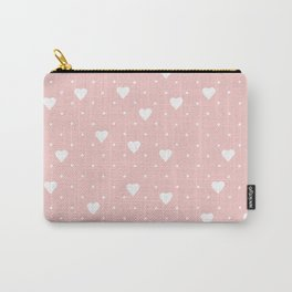 Pin Point Hearts Blush Carry-All Pouch