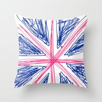 uk Throw Pillows featuring UK by R.Bongiovani
