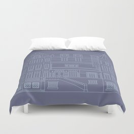 Very Royal - Blueprint Duvet Cover