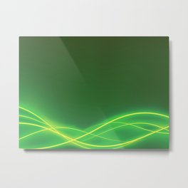 Ecclectic Waves Metal Print