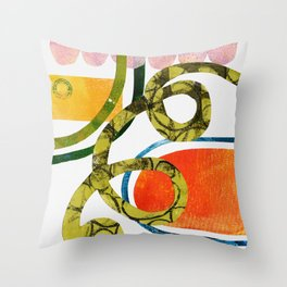 Paper ribbon - part 1/4 Throw Pillow