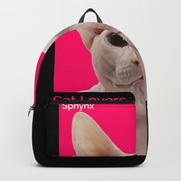 Cat Lovers Sphynx Cat Backpack