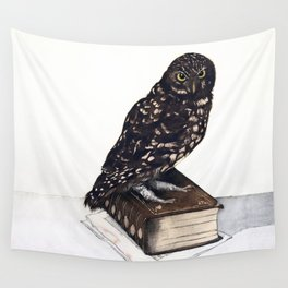 Reading with Owl Wall Tapestry