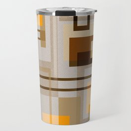 Mid Century Modern Blocks on Sand Travel Mug