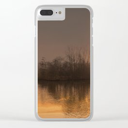 Middle Pool Clear iPhone Case