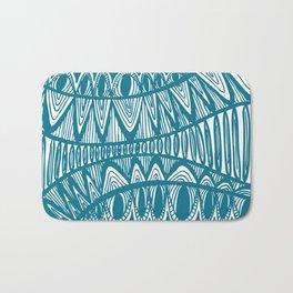 Original Creative blue pattern illustration Bath Mat