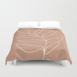 Engraved Leaf Line Duvet Cover