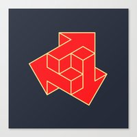 arrow Canvas Prints featuring Arrow by Dizzy Moments