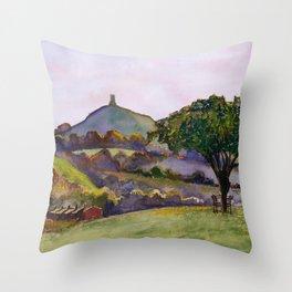 Glastonbury Tor - Somerset, England Throw Pillow