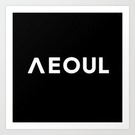 Seoul [Hangul] Art Print