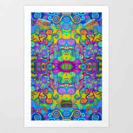 Klimt Tree of Life Mandala Art Print