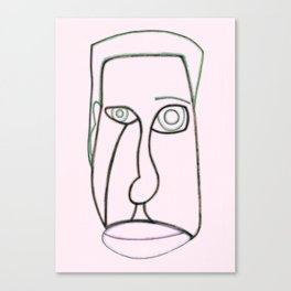 Facial features pink Canvas Print
