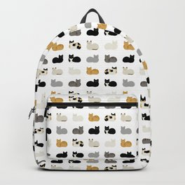 Cat Loaf 2 - White Ground Backpack