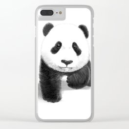 a lovely baby panda Clear iPhone Case