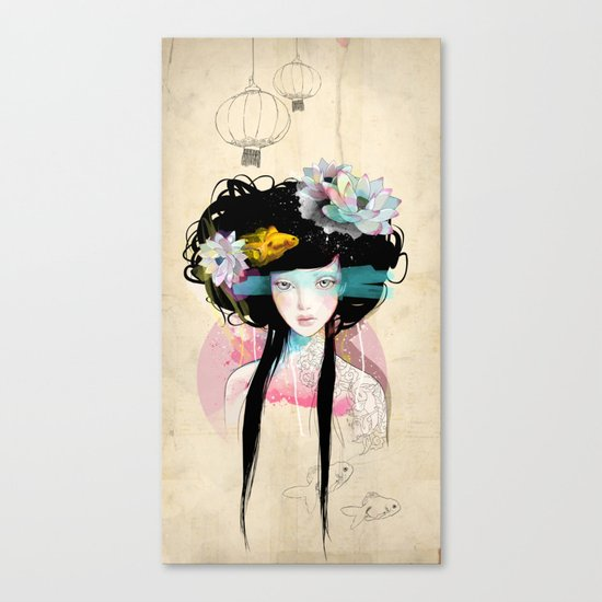 Nenufar Girl Canvas Print