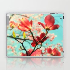 Spring dogwood blossoms Laptop & iPad Skin