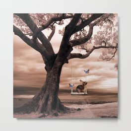 Woodland swing Metal Print