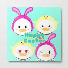 Easter Ducks Metal Print