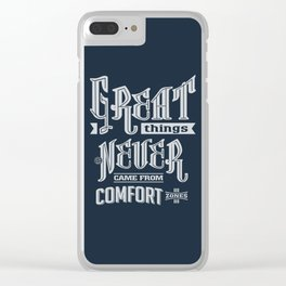 Comfort Zones - Motivation Clear iPhone Case