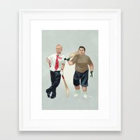shaun of the dead Framed Art Prints featuring Shaun of the Dead by Dave Collinson