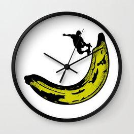 Banana Pipeline Skateboarder Wall Clock