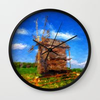 ukraine Wall Clocks featuring My Ukraine ^_^ by Julia Kovtunyak