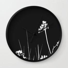 SEA PLANTS W&B Wall Clock