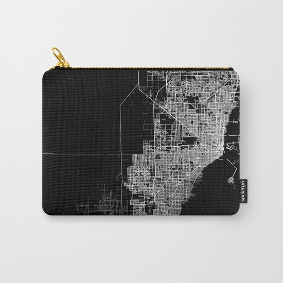 miami map Carry-All Pouch