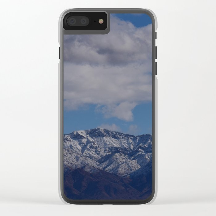 Desert Snow on Christmas! Clear iPhone Case