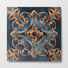 Blue Maiolica Metal Print