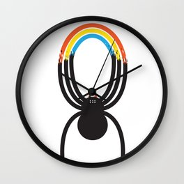 Spiders Are Rainbows Wall Clock