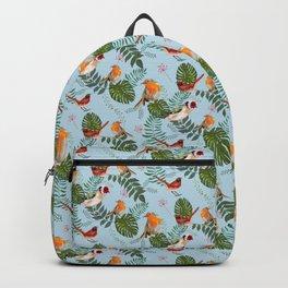 Robin & Goldfinch Pattern - Bird watching Gift Backpack