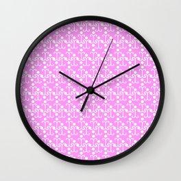 Lattice Pattern (Pink) Wall Clock