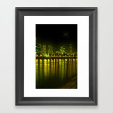 emerald city of roses Framed Art Print