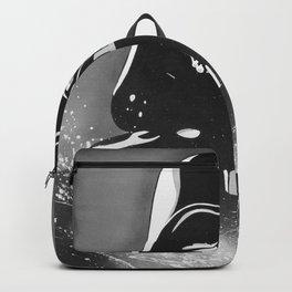 Black and White Dark  Backpack