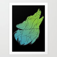 Hear me Howl (black) Art Print