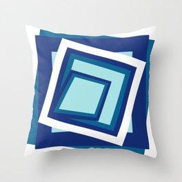 Geometric in classic blue Throw Pillow